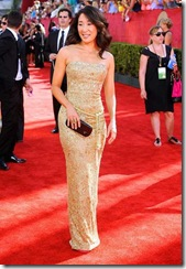 Actress Sandra Oh arrives at the 61st Primetime Emmy Awards held